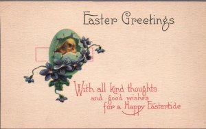 Easter,Chick,Flowers