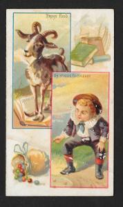 VICTORIAN TRADE CARD American Tobacco Jokes