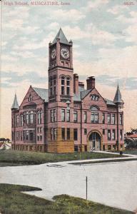 MUSCATINE, Iowa, PU-1909; High School