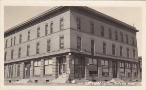 Montana Poplar Gateway Hotel Real Photo 1955