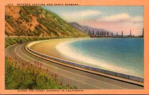 California Along The Coast Highway Between Ventura and Santa Monica