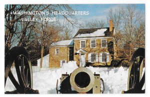 Washingtons Headquarters Valley Forge PA Cannon Muzzle View Vntg Wyco Postcard