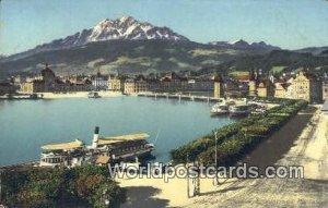 Seebrucke, Schweizerholquai u Pilatus Luzern Swizerland Unused