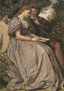 A. Feuerbach. Francesca da Riminmi e Paolo Fine painting, vintage German PC