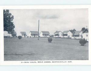 1950's COZY CABINS MOTEL Berthierville - Near Sorel & Joliette Quebec QC c4138