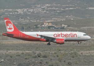 AIR BERLIN, A320-214, unused Postcard