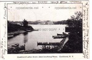 Guilford Lake NY from Dam
