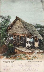 Suva Fiji Native House Series 43 Kerry Postcard F98 *as is