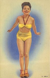 Bathing Beauty Post Card Unused
