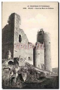Rouergue Najac Old Postcard Under the walls of the castle