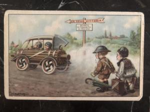 Mint Italy Facist Picture Postcard Way to Victory Transit to pedestrians