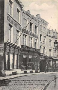 Bourse Brussels Belgium outside Hotel de Cologne Centre antique pc Y15141