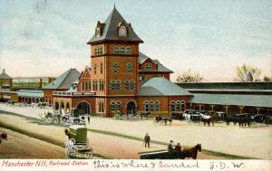 NH - Manchester. Railroad Station, Depot