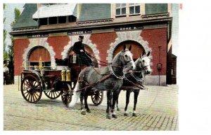 Fire Truck, Horse drawn , Fire House