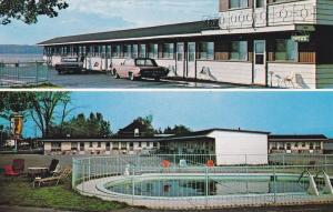 2-Views, Motel Chevalier, Swimming Pool, Beauport, Quebec, Canada, 1940-1960s