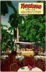 Vintage 1940s Havana CUBA Advertising Postcard TROPICANA NIGHT CLUB Linen Unused