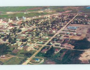 Pre-1980 AERIAL VIEW OF TOWN Whitewood Saskatchewan SK F9161