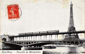 CPA PARIS 16e-Passy-Passerelle du Métropolitain (326207)