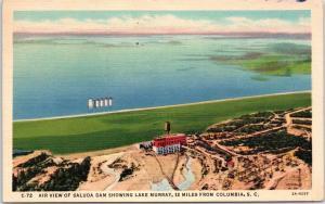 1942 Saluda Dam Lake Murray, Columbia, SC postcard