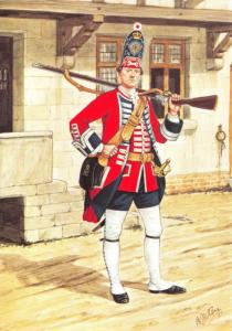Military Art Postcard The Grenadier Guards, First Foot Guards 1751 #8-1