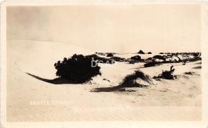 A43/ Alamogorgo White Sands New Mexico NM Real Photo RPPC Postcard c1920 Dunes