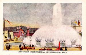 Spain - Barcelona, 1929. International Exposition, The Great Fountain