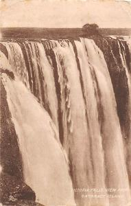 Zimbabwe Rhodesia, Victoria Falls View from Cataract Island