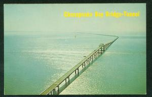 Chesapeake Bay Bridge Tunnel Scene Vintage Maryland Virginia Postcard