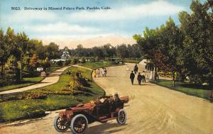 Pueblo Colorado~Mineral Palace Park~Vintage Car Tours Driveway~Dirt Road~1914 PC