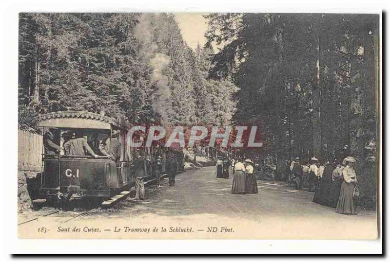 Vintage Postcard Jump of the Tanks the tram of Schlucht TOP