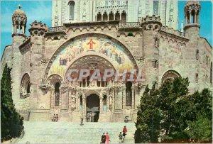 Postcard Modern Barcelona Tibidabo Expiatory Church of the Sacred Heart