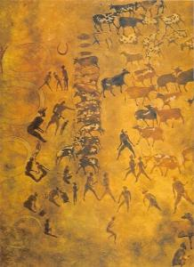 Algeria Rock Carvins, Gravures Rupestres du Tassili