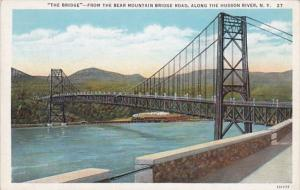 New York The Bridge From The Bear Mountain Bridge Road Along Hudson River