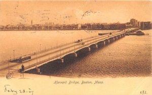 Harvard Bridge Boston, Massachusetts Postcard