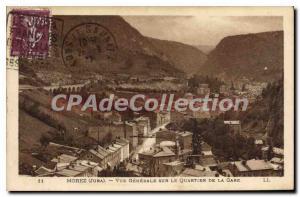 Old Postcard Morez Vue Generale On The Quartier de la Gare