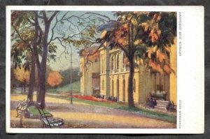 dc364 - KRYNICA Poland 1927 Dom Zdrojowy, Artist Signed Wladyslaw Szulc