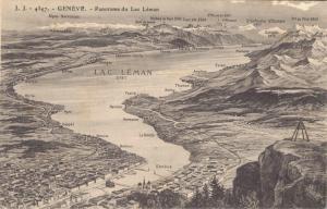 Switzerland Geneve Panorama du Lac Léman 02.99