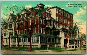 Asbury Park, New Jersey Postcard MARLBOROUGH HOTEL Building / Street View 1910s