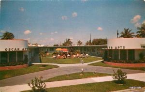 1950s Deco Oscar Apartments Hollywood Florida Neel postcard 7425
