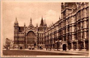 Old Palace Yard Palace of Westminster UK vintage postcard