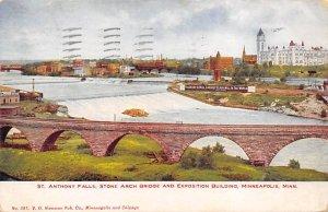 St Anthony Falls Stone Arch Bridge Minneapolis,  MN