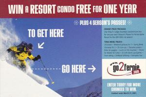 Advertising go2fernie Win a Resort Condo