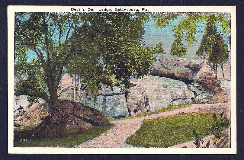 Devil's Den Ledge Gettysburg PA unused c1920's