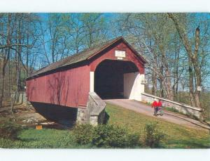 Unused Pre-1980 HAUPT MILL COVERED BRIDGE Springfield & Durham PA d3804