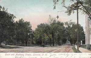 LACONIA , New Hampshire , 1908 ; Court and Academy Streets