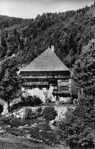 Bauernhaus im Schwarzwald Creek House Forest Postcard
