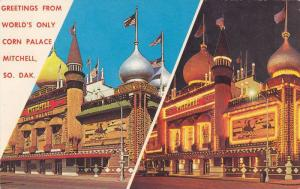 2-Views, Day/Night View, Greetings From The World's Only Corn Palace, Mitchel...