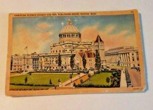 Vintage Postcard Christian Science Church Boston Massachusetts Mother Church 603