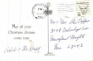 Santa Claus Post Card Old Antique Vintage Christmas Postcard Reproduction 1986