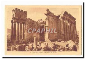Syria Baalbek CARTE Postale Old Temple of Bacchus Syria